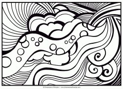 Abstract Coloring Pages for Adults Abstract Pattern That Looks Like Rolling Clouds