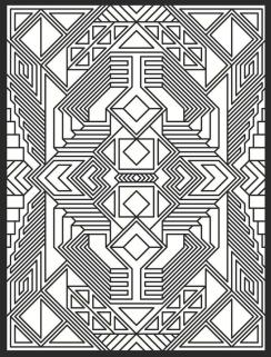 Abstract Coloring Pages for Adults Complex Abstract Geometry Pattern