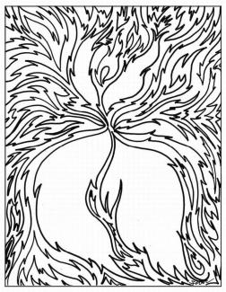 Abstract Coloring Pages for Adults Easy Abstract Drawing