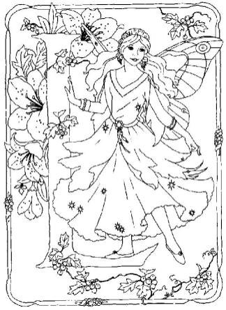 Coloring Pages for Teenage Girl to Print Alphabet Fairy