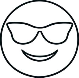 Emoji Coloring Pages Black and White Cool Face Emoji