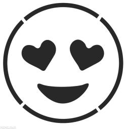 Emoji Coloring Pages Heart Eyes