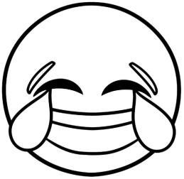 Emoji Coloring Pages Laughing In Tears