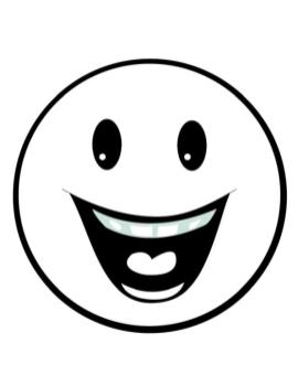 Emoji Coloring Pages Wide Smile Means Super Happy
