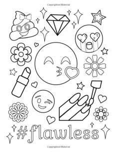 Emoji Coloring Pages for Adults Flawless Is Me