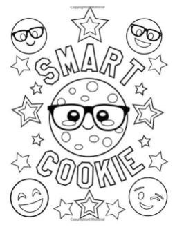 Emoji Coloring Pages for Adults I Am A Smart Cookie