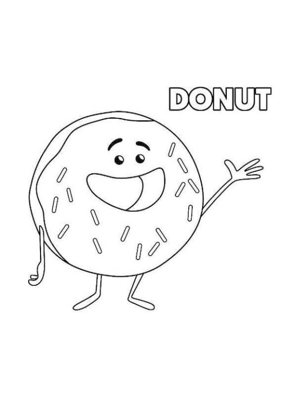 Emoji Movie Coloring Pages Printable Donut