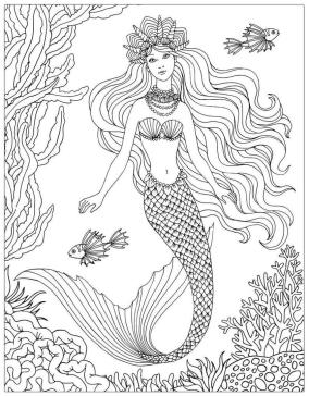 Mermaid Coloring Pages for Adult co24l