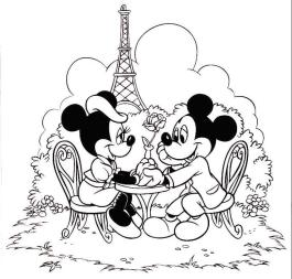 Minnie Mouse Coloring Pages Online Minnie Having a Romantic Night with Mickey