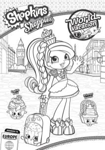 Shopkins Coloring Book Pages Jessicake on Vacation