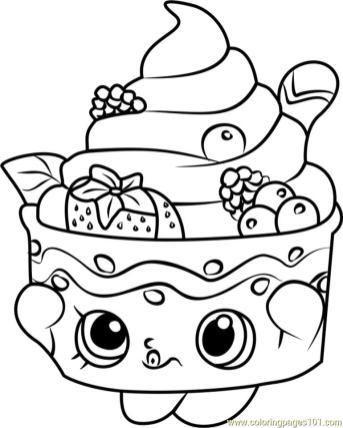 Shopkins Coloring Pages Food Yo Chi