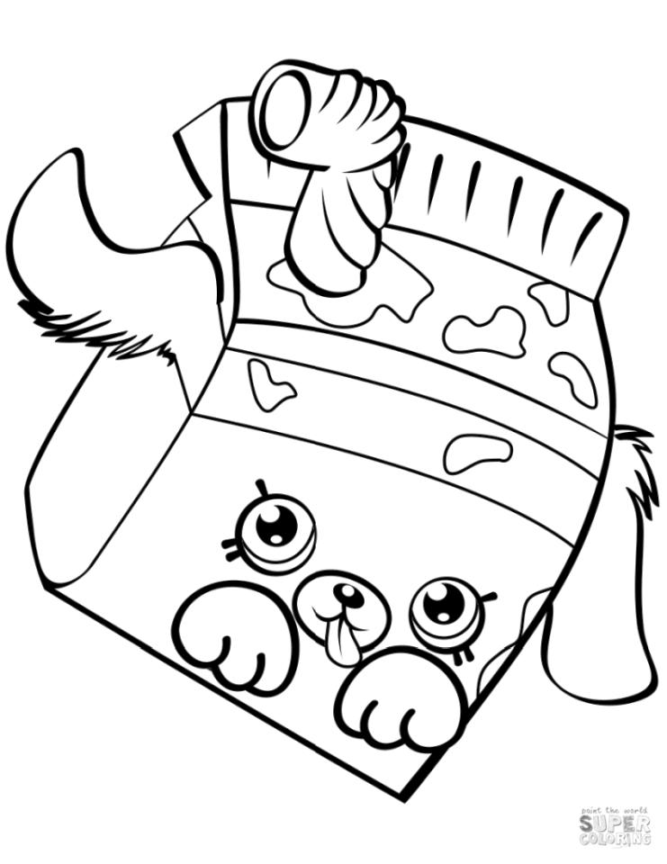 Shopkins Coloring Pages Milk Bud