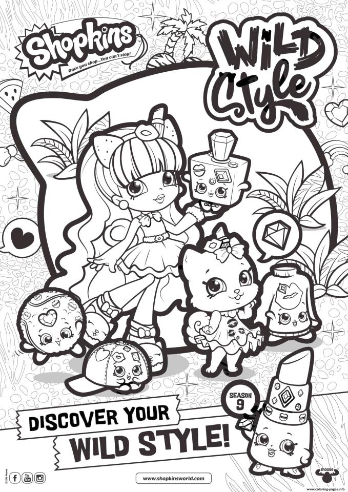 Shopkins Coloring Pages Printable Once You Shop You Cannot Stop