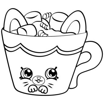 Shopkins Coloring Pages for Kids Hot Chocolate