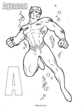 Superhero Coloring Pages Aquaman