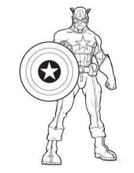 Superhero Coloring Pages Captain America