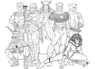 Superhero Coloring Pages Marvel Avengers