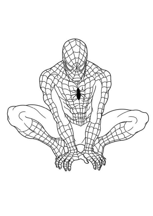 Superhero Coloring Pages Preschool Spiderman