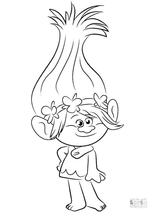 Trolls Coloring Pages Free Printable Poppy