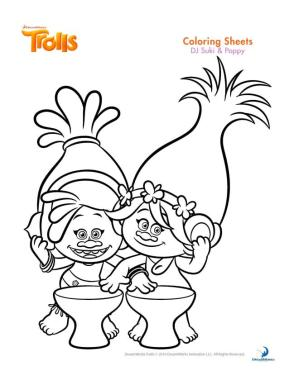 Trolls Coloring Pages Troll Best Friends DJ Suki and Poppy