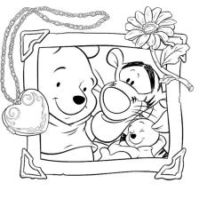 Winnie the Pooh Coloring Pages Easy A Picture of Pooh and His Best Friends