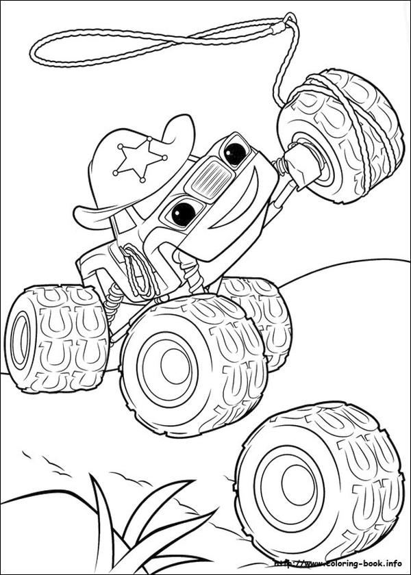 Blaze Coloring Pages Starla The Sheriff