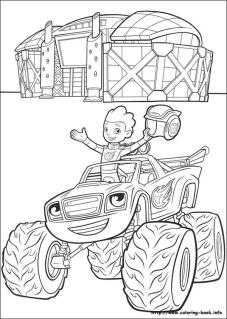 Blaze Coloring Pages We Are Winners