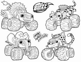 Blaze and the Monster Machines Coloring Pages The Wild Wheels Truck