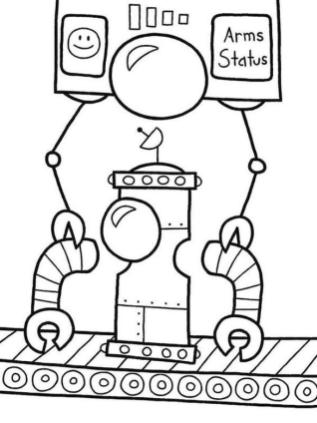 Coloring Pages of A Robot A Robot Being Assembled in Factory