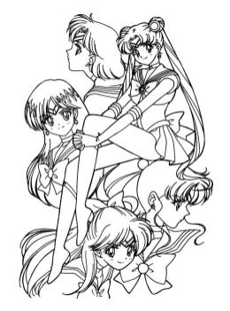 Cute Sailor Moon Coloring Pages Sailor Moon Anime Characters