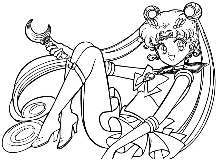 Cute Sailor Moon Coloring Pages Usagi Is Very Beautiful