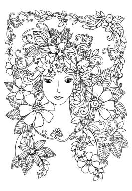 Cute and Hard Coloring Pages Forest Princess