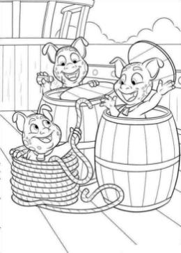 Disney Elena of Avalor Coloring Page Looks Like Three Little Pigs