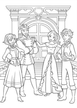 Elena of Avalor Coloring Pages Four Best Friends