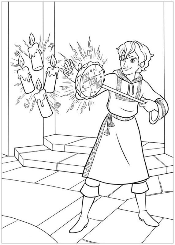Elena of Avalor Coloring Pages Mateo Doing His Magic
