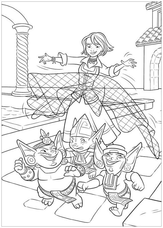 Elena of Avalor Coloring Pages Naomi Casting Magic Net