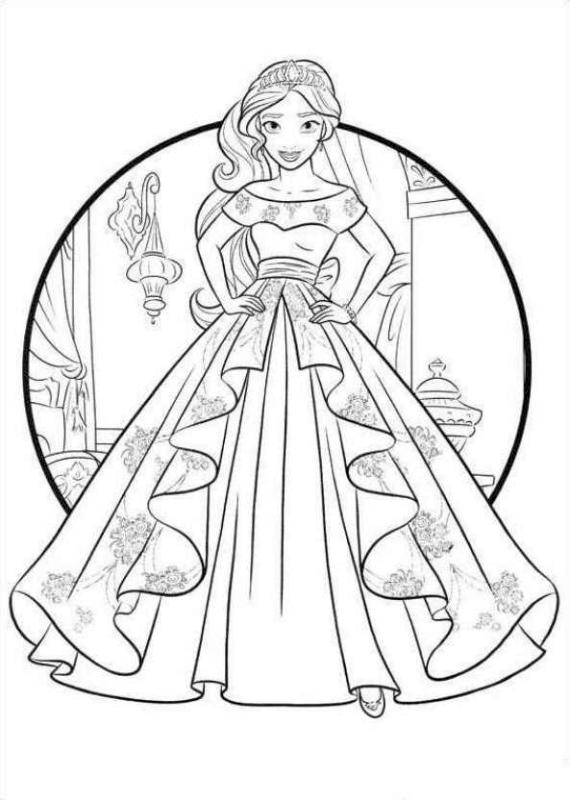 Elena of Avalor Coloring Sheet Elena Growing Up to Be a Great Princess