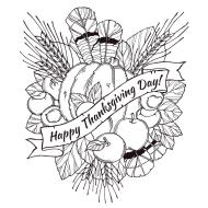 Free Thanksgiving Coloring Sheets for Adults Happy Thanksgiving Day for Everyone