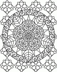 Hard Coloring Pages Abstract Floral Patterns