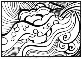 Hard Coloring Pages Online Trippy Pattern