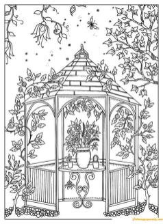 Hard Coloring Pages for Adults Beautiful Garden