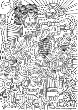 Hard Coloring Pictures for Adults Freestyle Doodle
