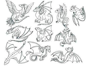 How to Train Your Dragon Coloring Pages Free Light Fury