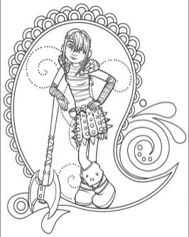 How to Train Your Dragon Coloring Pages Printable Astrid the Viking Girl