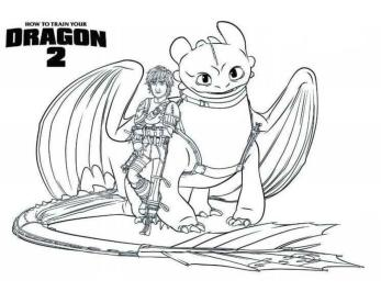 How to Train Your Dragon Coloring Pages Printable Hiccup and Toothless the Dragon Warriors