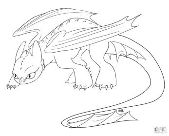 How to Train Your Dragon Coloring Pages Toothless Creeping