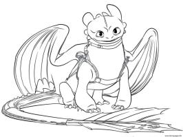 How to Train Your Dragon Coloring Pages for Kids Grown Up Toothless