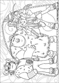 How to Train Your Dragon Coloring Pages to Print The Young Viking Gang