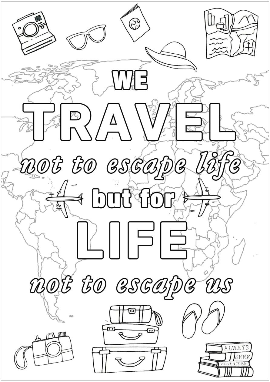 Inspirational Coloring Pages Printable Start Traveling
