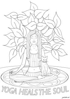 Inspirational Coloring Pages Printable Yoga Is Good For Soul